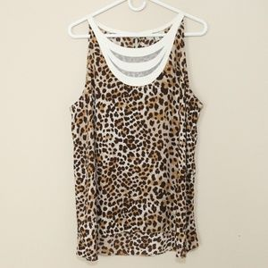 41 Hawthorn Stitch Fix Animal Print Blouse SZ XL